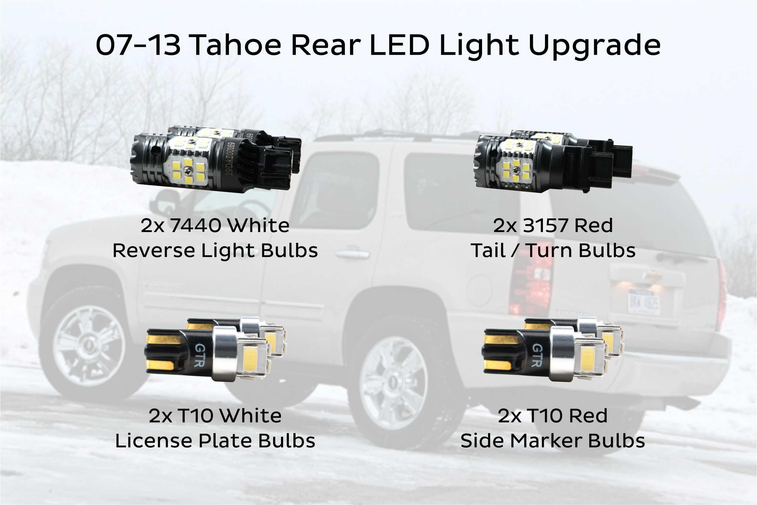 07-13 Chevy Suburban+Tahoe Gloss Shiny Black Full Mirror Cover 1 piece Design