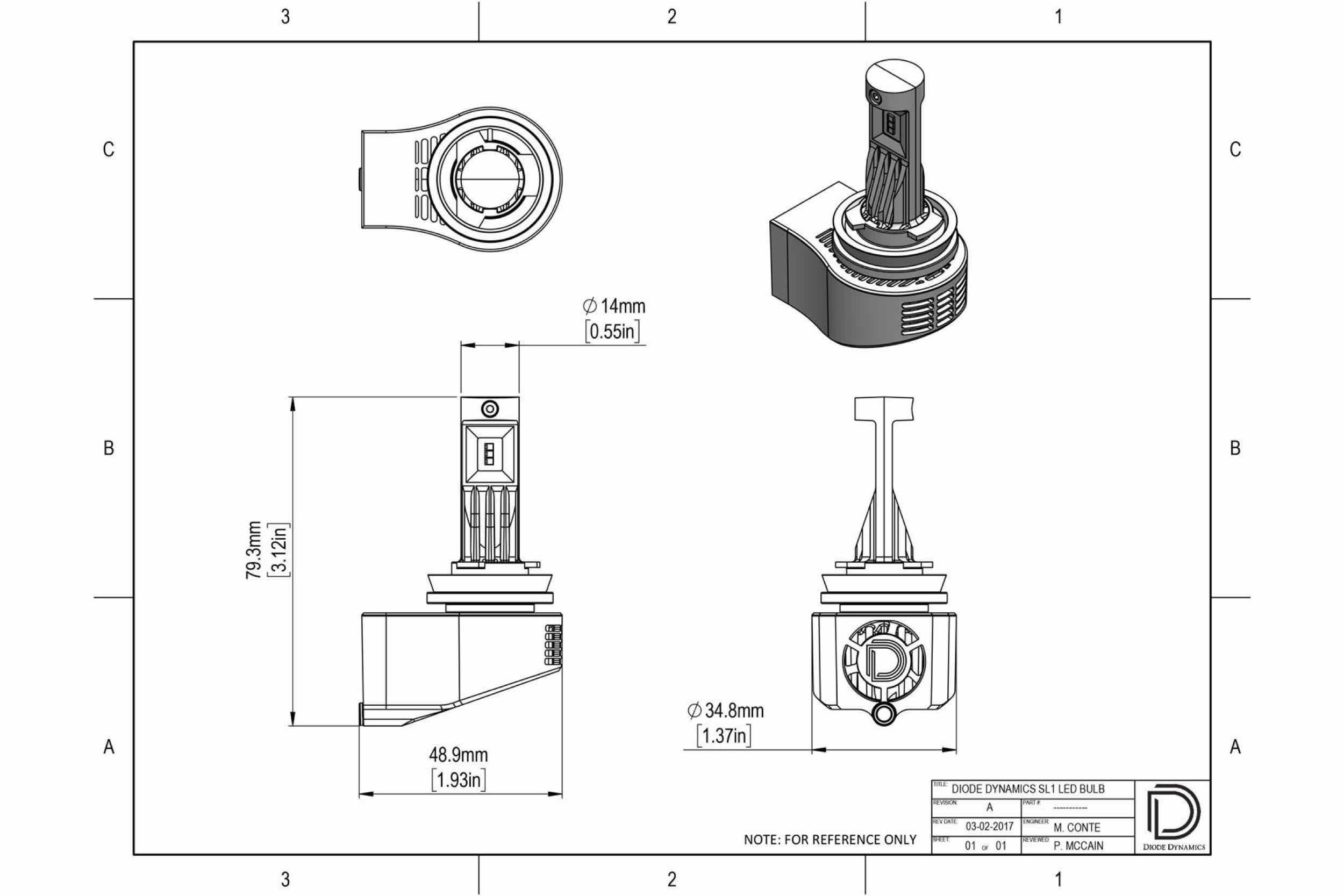 Diode Dynamics SL1 / SLF H10/9145 LED Bulbs I HR