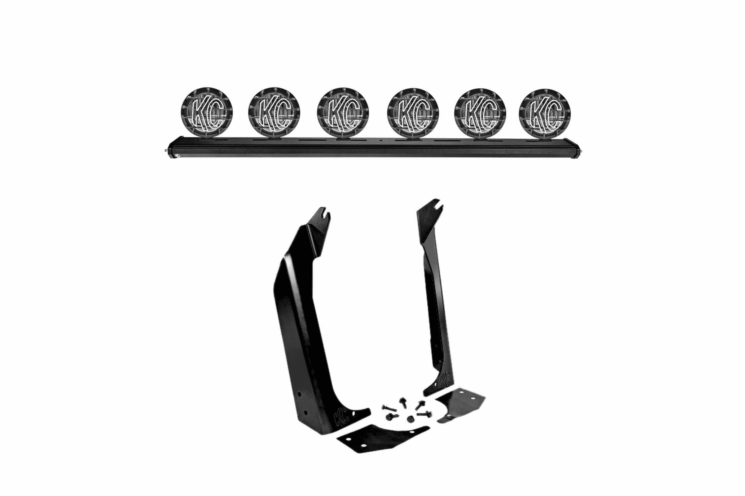 KC Hi-Lites Xross Bar LED Kit For Jeep Wrangler TJ I HR