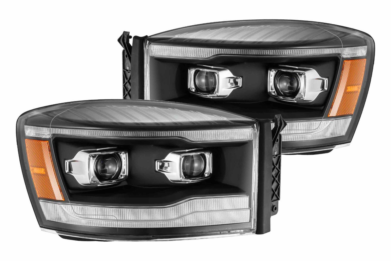 Built-In LED 2002-2008 Dodge RAM 1500 Truck Halo Projector Lamp Fog Lights Kit
